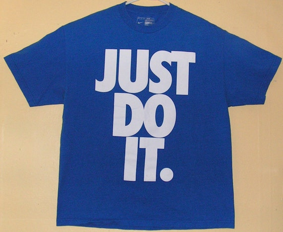 90s NIKE Nikes  Just Do It T-Shirt  size Adult XL