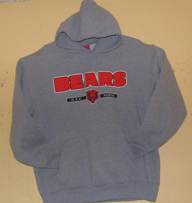 online retailer 360a9 61a8b 80s CHICAGO BEARS Sweater hoodie Size Adult Medium Pullover Hoodie NFL Team  Apparel gear fun fan Vintage