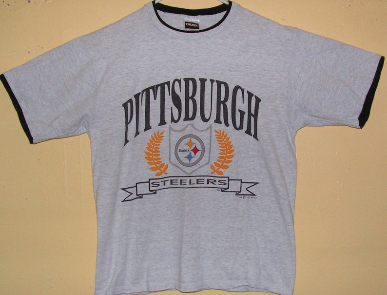 0a1cbfd8 90s PITTSBURGH STEELERS Size Adult Large T-Shirt NFL Team | Etsy