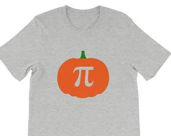 Pumpkin Pi T-shirt | Funny Thanksgiving Shirt | Crewneck Pumpkin T-shirt | Math Joke Graphic Tee Shirts
