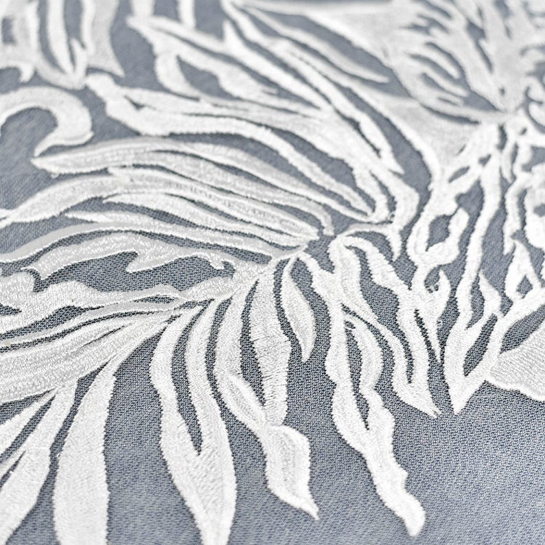 embroidered floral lace fabric by the yard ivory leaf lace fabric bridal lace fabric