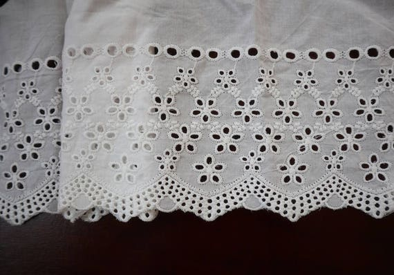 Scalloped Edge lace Trim 34 Natural Cotton Lace Trim by the yard