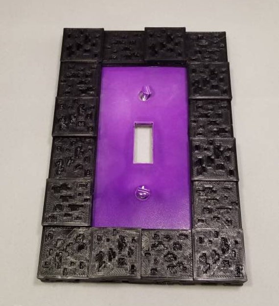 Minecraft light switch for a boys or girls bedroom decor lightswitch  decoration Nether portal plate switchplate