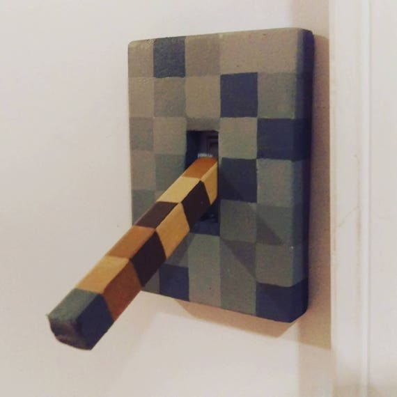 Minecraft Lever Light Switch For Boys Or Girls Bedroom Etsy
