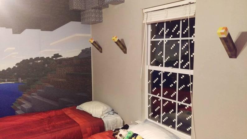Naklejki Na Okno Minecraft Kalkomanie Dekoracje Dla Chłopców Lub Dziewcząt Sypialnia Lub łazienka Vinyl Party Theme