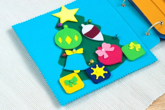 Personalized Felt Christmas Quiet Book gift for toddler Christmas Gift