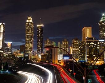 Atlanta Georgia ATL Skyline Cityscape Long exposure City Lights Instant Download