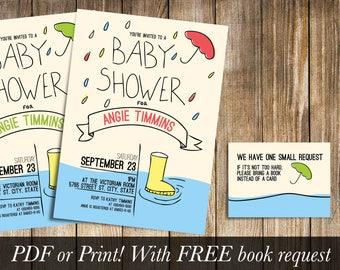 Rainy Baby Shower Invitation