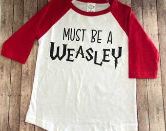 Toddler Tshirt - Must Be A Weasley