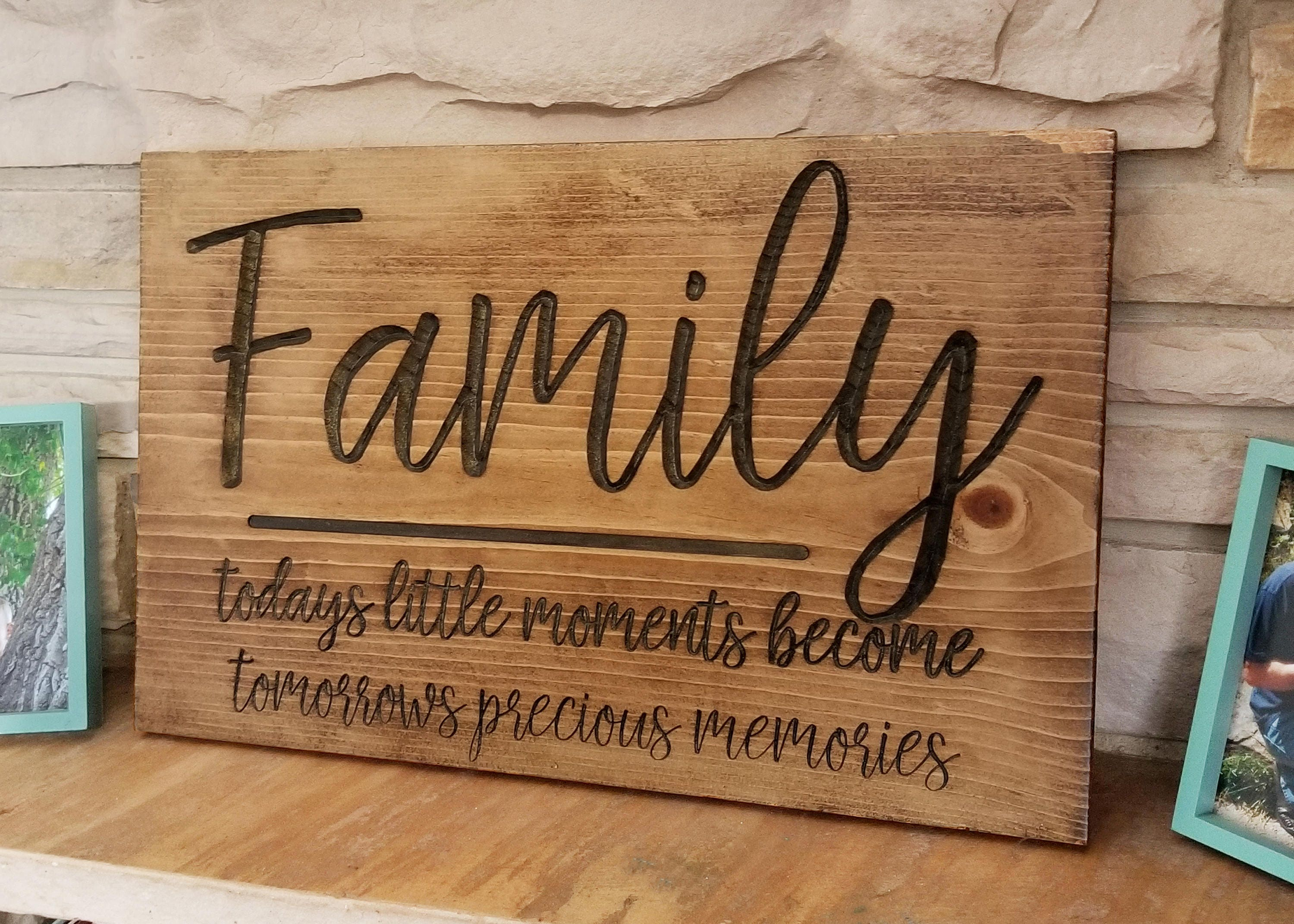 Wood Family Sign Gifts for Parents Wedding Gift Ideas   Etsy