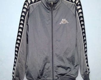 Vintage Kappa Jacket Tracktop Fullprint Active wear Training Unisex Adult Size M a2omkwi