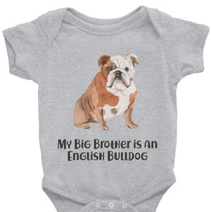 English Bulldog Baby Clothes Organic Shower Gifts for Dog Lovers New Mom Rompers Dad Birthday Ideas First Christmas Newborn Outfits