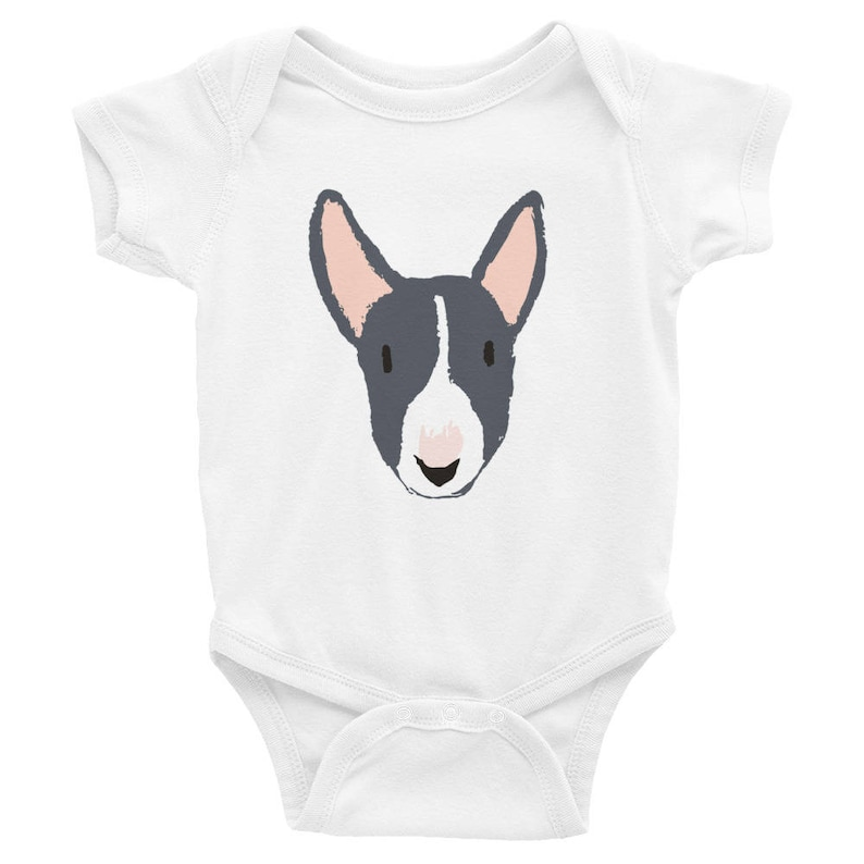 083253ed1 Bull Terrier Gifts Dog Baby Bodysuit Baby Girl Clothes Baby | Etsy
