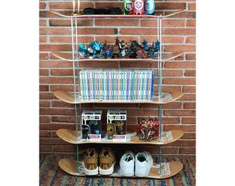 Skateboard Wall Shelf. Skate Shelve Made From Recycled Skateboards.  Skateboarding Teen Present
