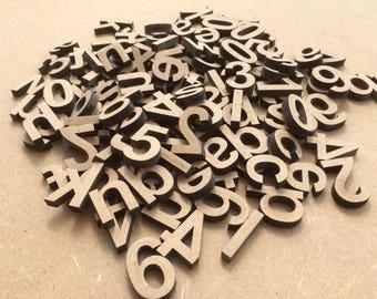Set of 100 letters wooden paint.