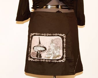 Gothic skirt with embroidery size 44/46