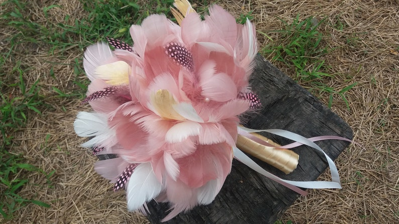 Bridal bouquet Bridal accessory Feather bouquet Exclusive Wedding Alternative bouquet Bridesmaids Gatsby chick Dusty rose bouquet