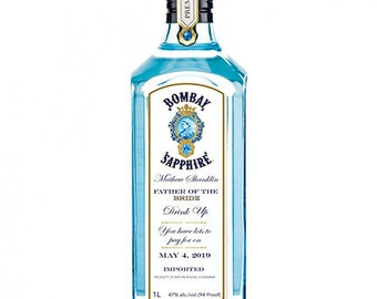 Perfect Gift For Any Occasion! L2 Personalised London Dry Gin Bottle Label