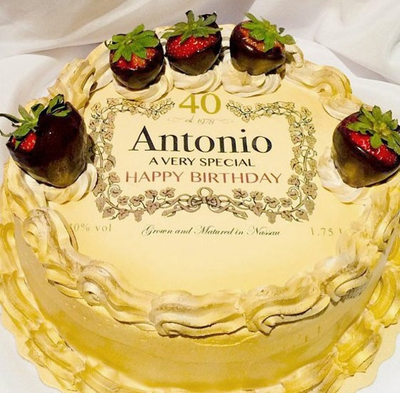 Superb Edible Sheet Image Print Custom Liquor Label Cake Topper Etsy Funny Birthday Cards Online Alyptdamsfinfo