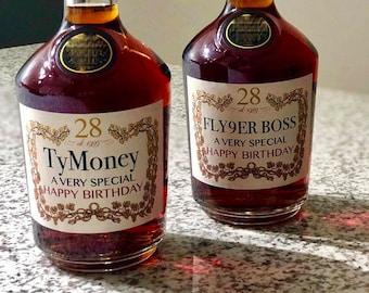 PRINTED custom cognac label, custom valentine's day gift for him, groomsmen proposal, boyfriend valentine's gift, father's day gift, cognac