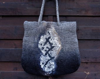 Felt shopping bag, Shoppertasche, handle bag, shoulder bag, felt bag, carrying case