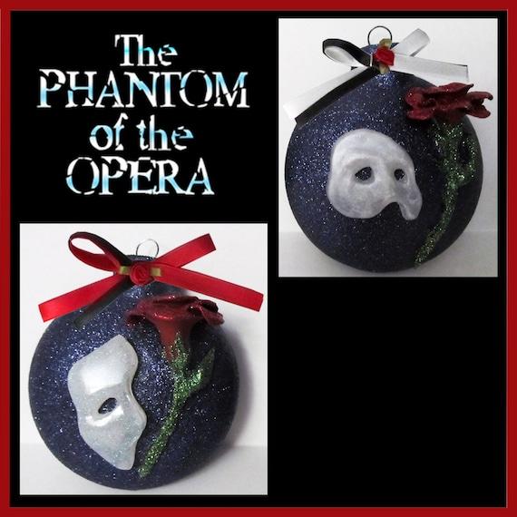 50 - Custom Made 3D Phantom Of The Opera Christmas Ornament Etsy