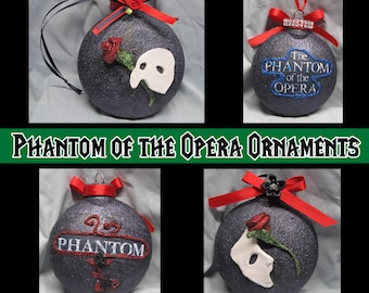 Custom Made 3D Phantom of the Opera Christmas Ornament - Holiday - Collection