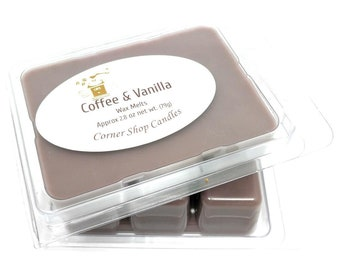 Coffee and Vanilla Wax Melts. Scented Wax Melts. 6 Cube Pack. Wickless Candle Wax