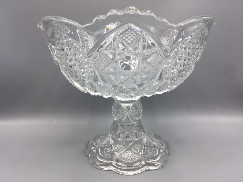 EAPG Compote Comport Pedestal Bowl U.S Glass Company Minnesota Muchness Antique