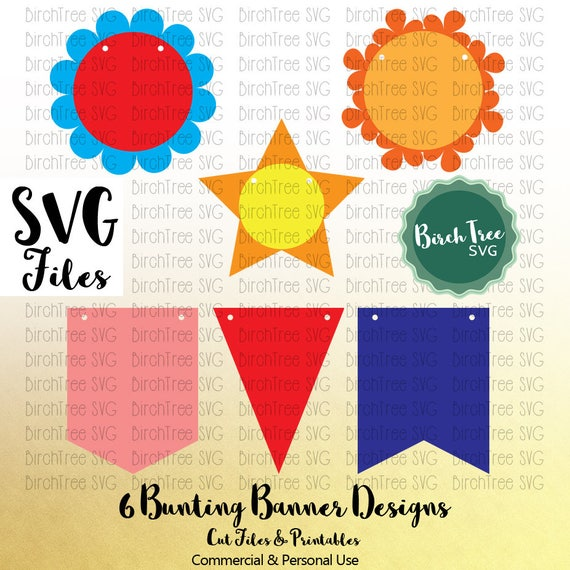 Bunting Svg Banner Flags Party Banner Wedding Birthday Etsy