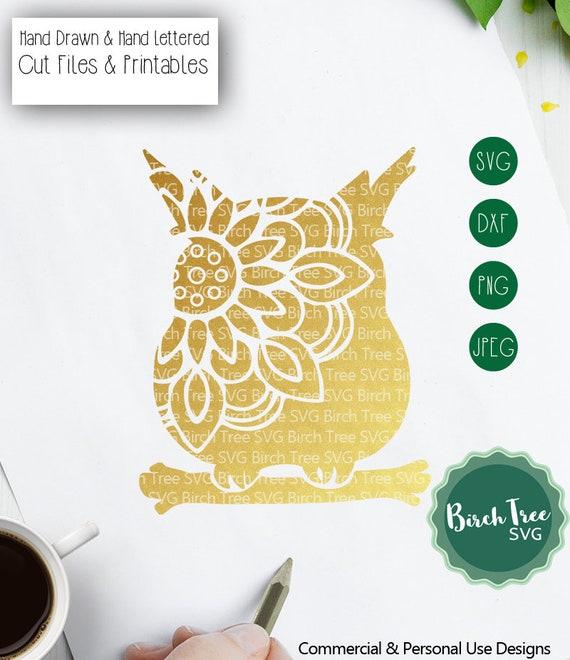 Owl Mandala Svg Owl Svg Cut File Mandala Svg Owl Clipart Etsy