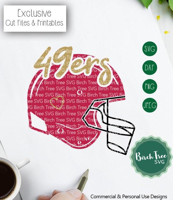 49ers Fan Svg 49ers Football Svg San Francisco Football Svg Etsy