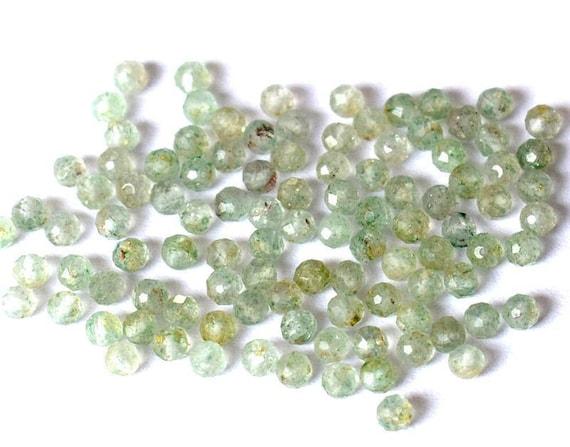 1 Fil Fluorite 10mm Ronde micro Facettes Perles