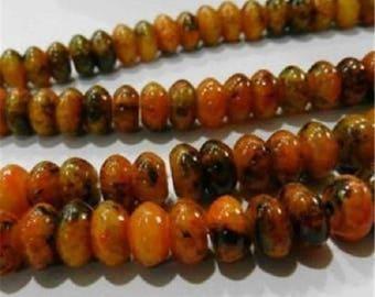 5 yellow chrysocolla azurite 5x8mm beads