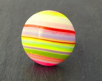 "Ring ""Bayadère girly flashy 2"" - polymer clay"