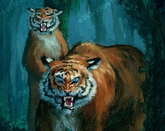 Impression A5 Hybrid Tiger Bear Creature inspired by the Wizard of Oz Kalidahs