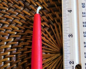 6, 12 or 24 Tiny Taper Beeswax Chime Candles, Any Color, Beeswax Birthday / Advent / Hanukkah / Kwanzaa, Spellwork, Candle Magic