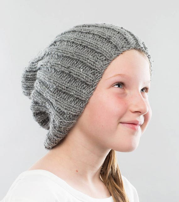 Hat Knitting Pattern Slouchy Beanie Knitting Pattern Hipster Etsy