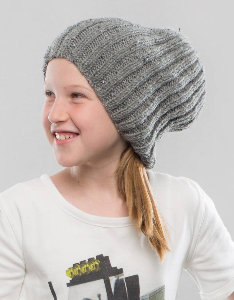 Hat knitting pattern Slouchy beanie knitting pattern ...