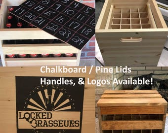 Beer Crate, 24-pack Bomber Beer Crate, Beer Caddy, Beer Carrier, Bottle Opener, Groomsmen Gift, Groomsman Gift, Wedding Gift, Best Man Gift