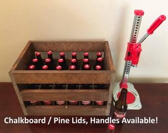 Beer Crate, 24-pack 12 oz. Beer Crate, Beer Caddy, Beer Carrier, Bottle Opener, Groomsmen Gift, Groomsman Gift, Wedding Gift, Best Man Gift