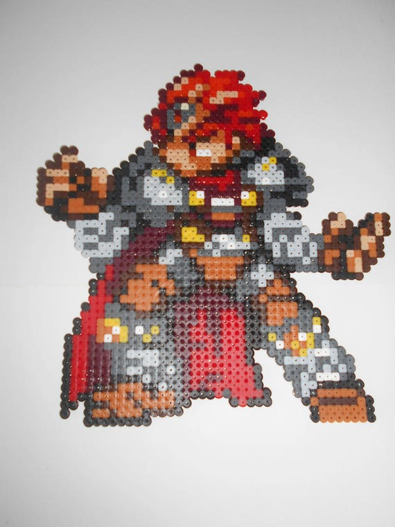 Items Similar To Zelda Ganon Bead Pixel Art Decoration