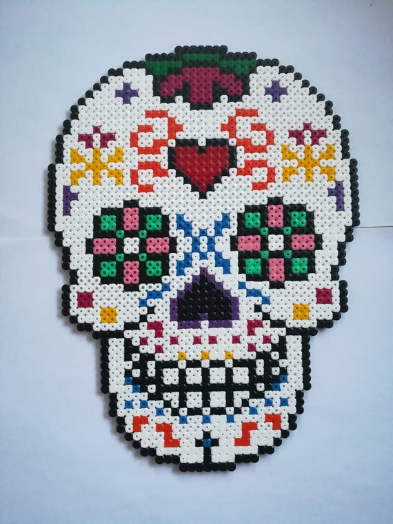 Items Similar To Halloween Skull Mexican White Multicolor
