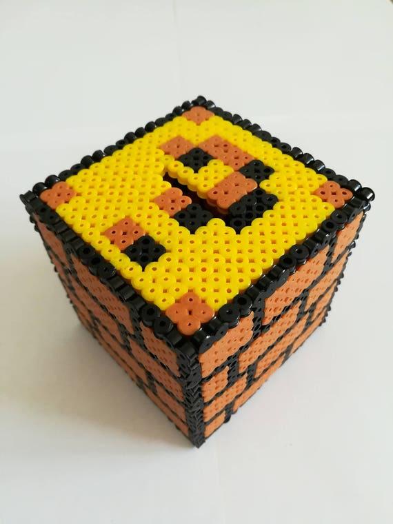 Tirelire MARIO Question Block En Perles A Repasser Pixel Art