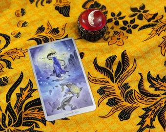Spirituele groei verspreiding Tarot Reading 5 kaarten