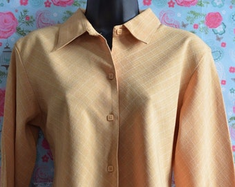 Envi UK Size XL Ladies Vintage Mustard Yellow Long Sleeve Shirt (B276)