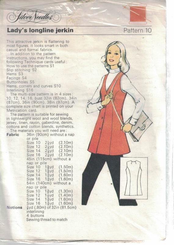 Señoras patrón de costura Vintage jubón de palangre por plata   Etsy
