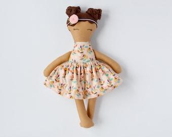 cloth doll/fabric heirloom doll/lookalike doll/rag doll/girls room decor/nursery decor/baby gift/big sister gift