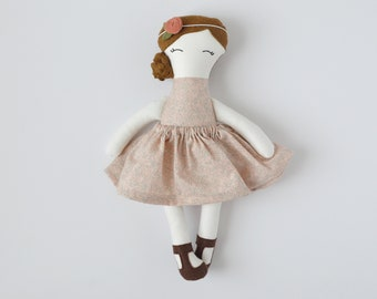 fair skin cloth doll, vintage personalized cloth doll, fabric doll, big sister gift, flower girl gift, baby shower gift, nursery decor