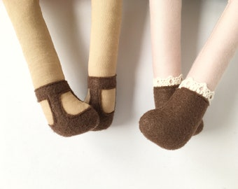 felt doll shoes, accessories, cloth doll, doll clothing, vintage, , personalize, ADD ON